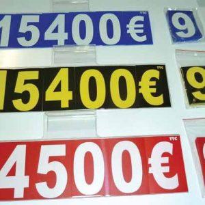 Kit d'affichage de prix interchangeable