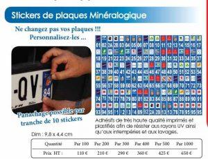 Stickers de plaques Minéralogique